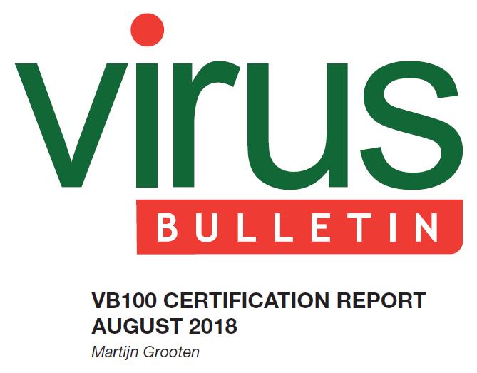 Тест VB100 в серпні 2018 року